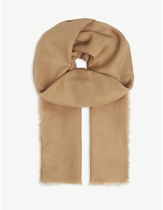 Max Mara Fringe cashmere and silk-blend scarf