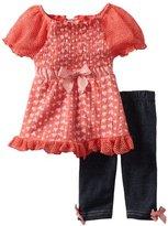 Little Lass Baby-Girls Infant 2 Piece Capri Set with Bow