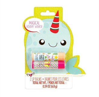 Fashion Angels Holiday Lip Balms 2-Pack Stocking Stuffer Narwhal