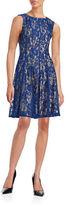 Gabby Skye Plus Pleated Lace Dress