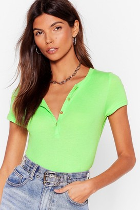 Womens Snap Your Hands Together Fitted Tee - green - L