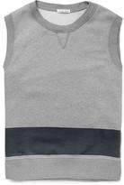 Tomas Maier Two-tone Fleece-back Cotton-jersey Tank Top - Gray