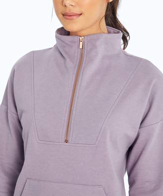 Ash Balance Collection Women's Tee Shirts H. - Heather Purple Markie Quarter-Zip Pullover - Women