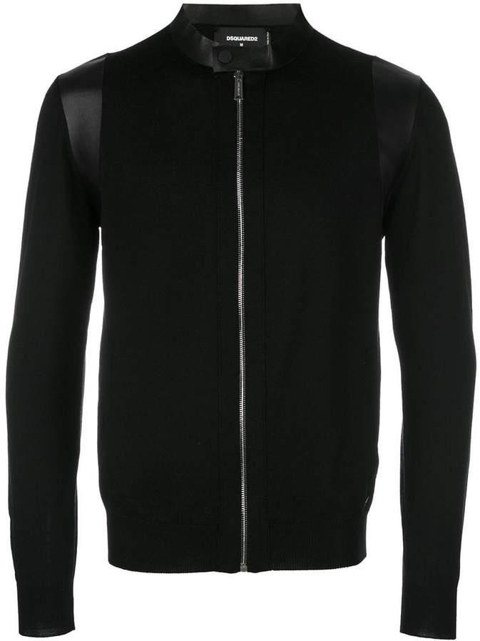DSQUARED2 zipped knitted sweatshirt