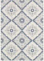 Couristan Indoor/Outdoor Area Rug, Dolce 4077/6025 Brindisi Ivory-Grey 4' x 5'10""