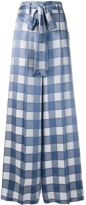 Temperley London Lena check trousers