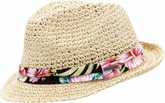 CHILLOUTS Hana Trilby Straw Hat Womens Sun (One Size - Nature)
