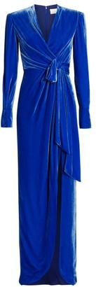 Cinq à Sept Kiley Velvet Wrap Gown