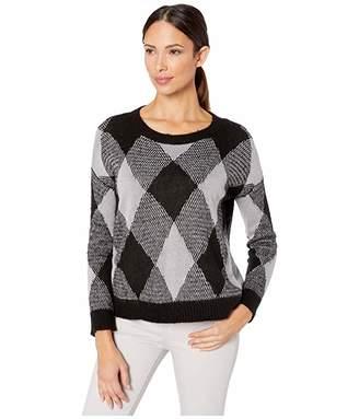 Vince Camuto Long Sleeve Long Eyelash Intarsia Sweater