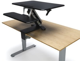 Jowers Sit To Stand Height Adjustable Standing Desk Converter Symple Stuff Color (Top/Frame): Black