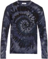 Valentino Long-sleeved tie-dye sweatshirt