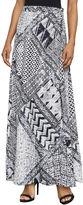 BCBGMAXAZRIA Aviva Geometric-Print Maxi Wrap Skirt
