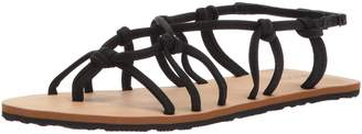 Volcom Women's WHATEVERSCLEVER Knotted Synthetic Leather Sandal Flat