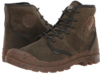 Palladium Pampa Hi Corduroy (Khaki Chocolate/Beluga) Men's Lace-up Boots
