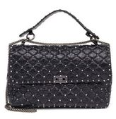 Valentino Rockstud Large Quilted Leather & Chain Top-Handle Bag