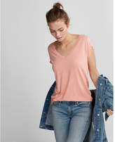 Express one eleven burnout v-neck slim tee