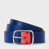 Paul Smith Men's Indigo Leather Belt With Contrast End