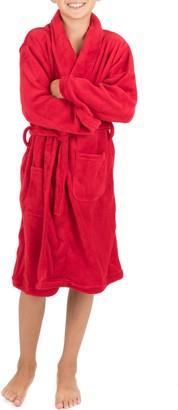 Leveret Red Shawl Collar Fleece Robe (Toddler, Little Girls, & Big Kids)