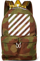Off-White Printed Canvas Backpack - Army green