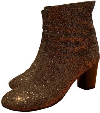 Isabel Marant Gold Glitter Ankle boots