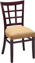 Regal Beechwood Lattice Back Seat Upholstered Dining Chair