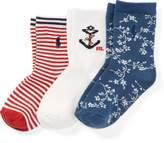 Ralph Lauren Nautical Crew Sock 3-Pack