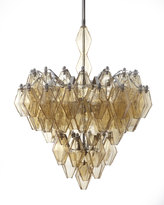 Horchow Amber Glass Chandelier