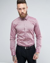 HUGO BOSS HUGO by Efin Stretch Shirt Extra Slim Skinny Fit Microdot Weave