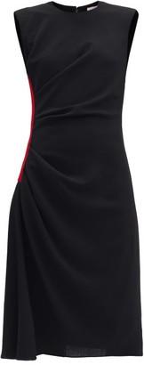 Alexander McQueen Side-stripe Wool-crepe Dress - Black