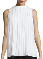 Liz Claiborne Sleeveless Pleat-Front Blouse - Tall
