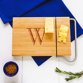 Cathy's Concepts Cathys concepts Monogram Bamboo Cheese Slicer