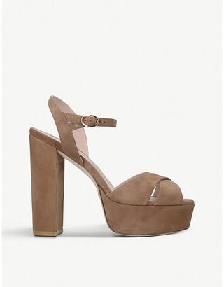 Stuart Weitzman Soliesse 100 suede platform sandals