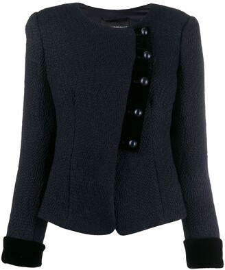 Emporio Armani fitted button-up jacket