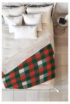 "DENY Designs Red Plaid Zoe Wodarz Christmas Plaid Sherpa Throw Blanket (50""x60"