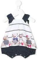 Lapin House bear print overall