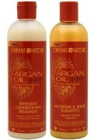 Crème of Nature Argan Oil Moisture Shine Shampoo & Intensive Treatment Set, 12 oz