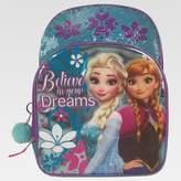 """Disney Frozen 16"""" Sequins Kids' Backpack with Pom-Pom - Aqua/Violet"""