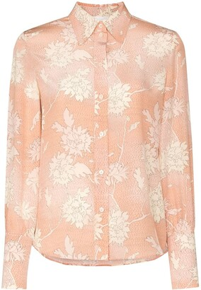 Chloé Floral Print Button-Down Shirt