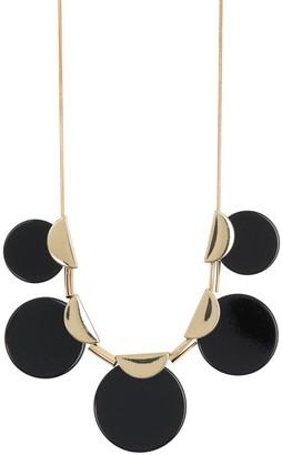 trina Trina Turk Black Circle Disc Frontal Necklace