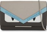 Fendi Tube Bugs Eyes Saffiano leather wallet
