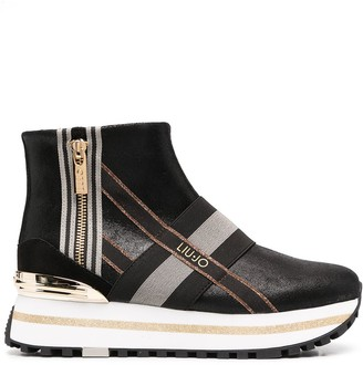 Liu Jo Striped-Panel Boots