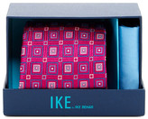 Ike Behar Connected Squares Silk Tie & Handkerchief