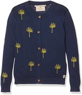 Scotch R'Belle Girl's Cardigan with Glitter Pattern Sweatshirt