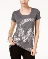 MICHAEL Michael Kors Leo Metallic Logo Print T-Shirt