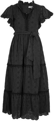 Lug Von Siga Sofia Embroidered Cotton Midi Dress