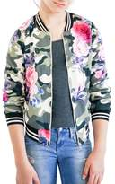 Truly Me Toddler Girl's Camo & Rose Bomber Jacket