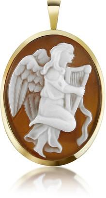 Del Gatto Angel with Lyre Sardonyx Cameo Pendant/Pin