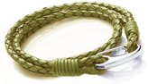 """Tribal Steel 3MM Double Wrap 2-Strand Plaited/Braided Leather Bracelet With Stainless Steel Shrimp Clasp - Mens Standard (21cm/8.25"""" Inch)"""