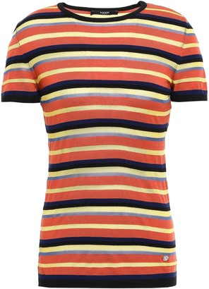 Versace Striped Knitted Top