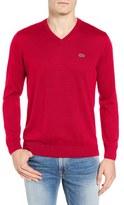 Lacoste Men's Jersey V-Neck Sweater